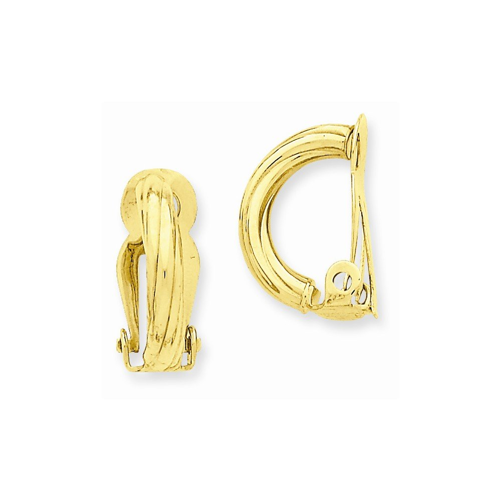 14k Yellow Gold Clip On Non Pierced Earrings