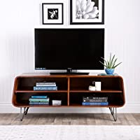 Mid-Century Modern TV Stand Provides Retro Style And Contemporary Functionality. Home Entertainment Center Suitable For A Living Room, Bedroom, And Den. Media Cabinet Console Creates Timeless Feel.