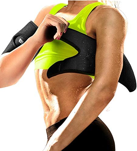 Neoprene Arm Trimmers Sauna Sweat Band for Women Men Weight Loss Compression Body Wraps Sport Workout Exercise(a pair) 1