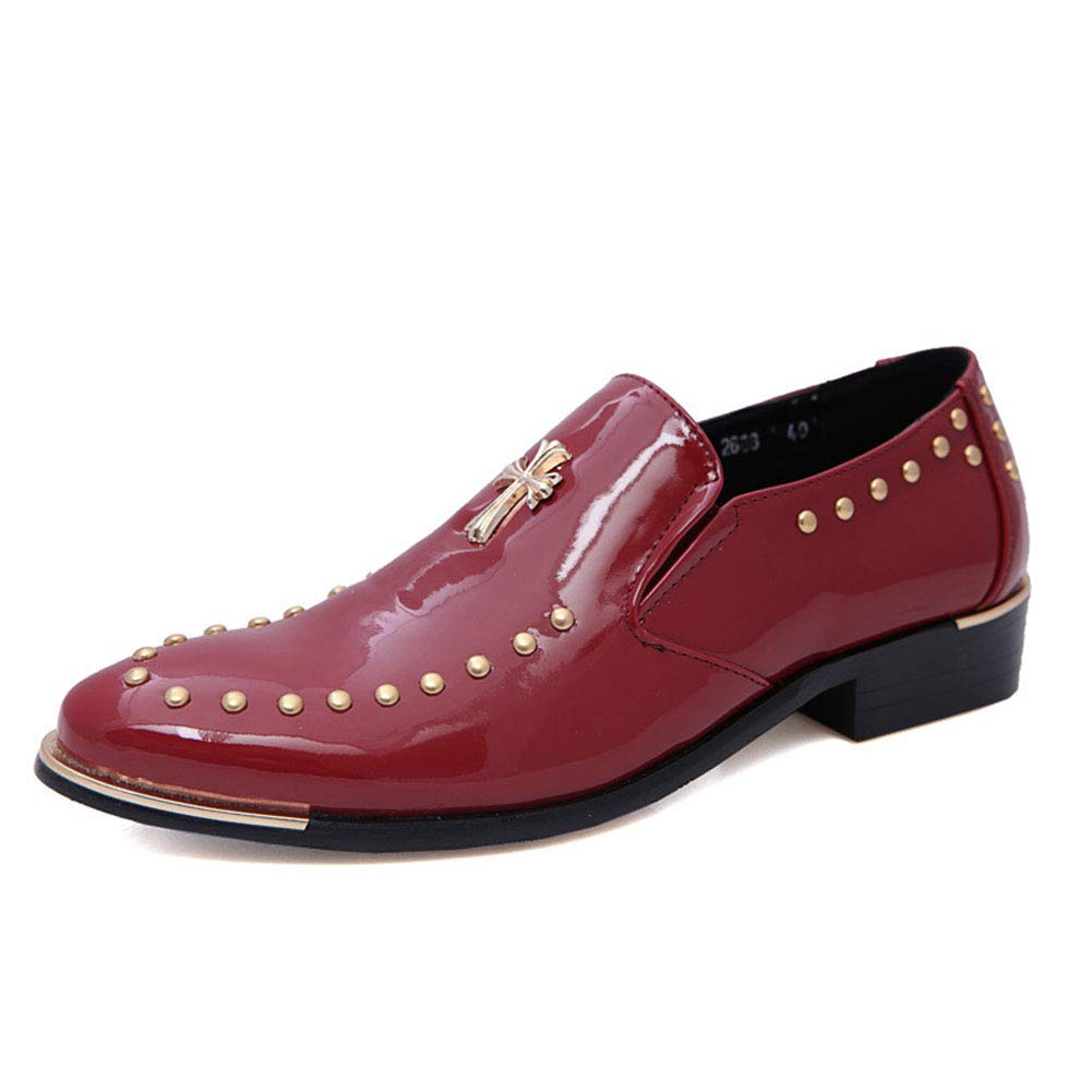 Herrenschuhe, New Man Pointed Leather Trend schuhe Hair Stylist Spring Trend Leather Herrenschuhe Casual Business Bright Leder British Leder Schuhe,b,38 a1689a