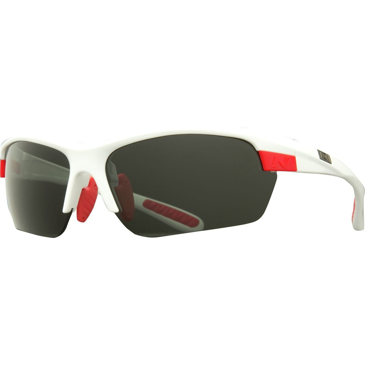 Optic Nerve Sequence Polarized Sunglasses with Interchangeable Lenses Shiny White 14094