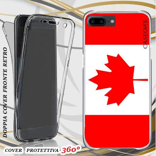 CUSTODIA COVER CASE CANADA PER IPHONE 7 PLUS FRONT BACK