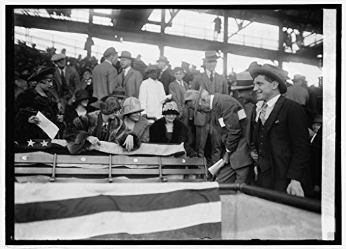 Vintography Reproduced 16 x 20 Photo of: Judge Landis Signing scorecards for Fans at World Series, 10/10/24 1924 National Photo Company