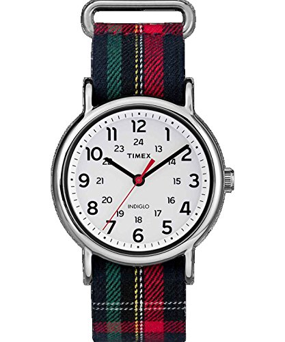 Timex TW2R10900 Weekender Unisex Watch Plaid 38mm Stainless Steel