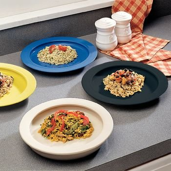 Sammons Preston Plate with Inside Edge (Pack of 25 - Polypropylene Yellow) by Sammons Preston