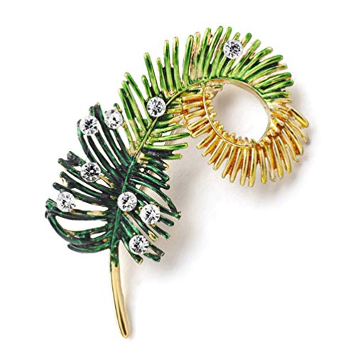 TZNBROCHS Brooch Pin Crystal Rhinestone Brooches for Women Sweater Dress Jewelry Accessories