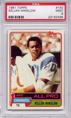 1981 Topps Kellen Winslow Rookie San Diego Chargers #150 PSA 9 MINT (Graded Football Cards)