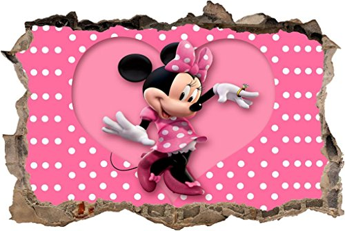 Minnie Mouse Disney Smashed Wall Decal Graphic Sticker Home Decor Art Mural J192, (Mini Mural)