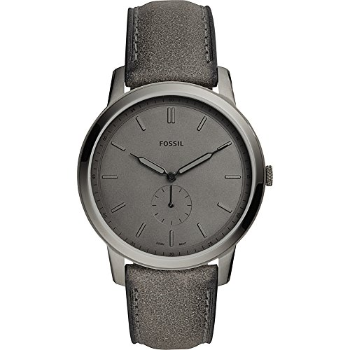 Fossil The Minimalist Two-Hand Gray Leather Watch