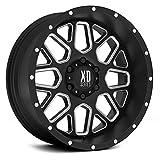 xd series 18 - XD Series by KMC Wheels XD820 Grenade Satin Black Wheel with Milled Spokes (18x9