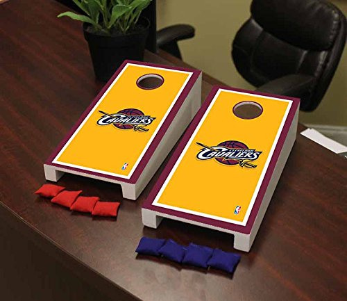 Victory Tailgate Cleveland Cavaliers NBA Basketball Desktop Cornhole Game Set Border Version