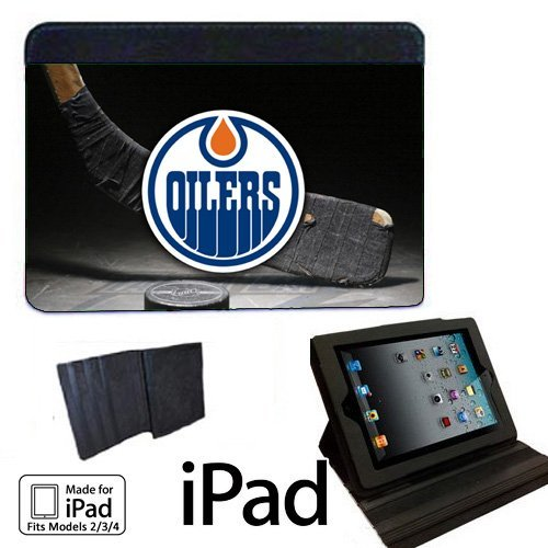 Oilers Hockey Apple iPad 2/3/4 Fabric Notebook Case / Cover Great Gift Idea Edmonton
