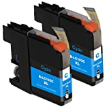 2inkjet© 2 PACK LC103 LC-103 Cyan Compatible Ink Cartridge for MFC-J245, MFC-J285DW, MFC-J4310DW, MFC-J4410DW, MFC-J450DW, MFC-J4510DW, MFC-J4610DW, MFC-J470DW, MFC-J4710DW, MFC-J475DW, MFC-J650DW, MFC-J6920DW, MFC-J870DW, MFC-J875DW