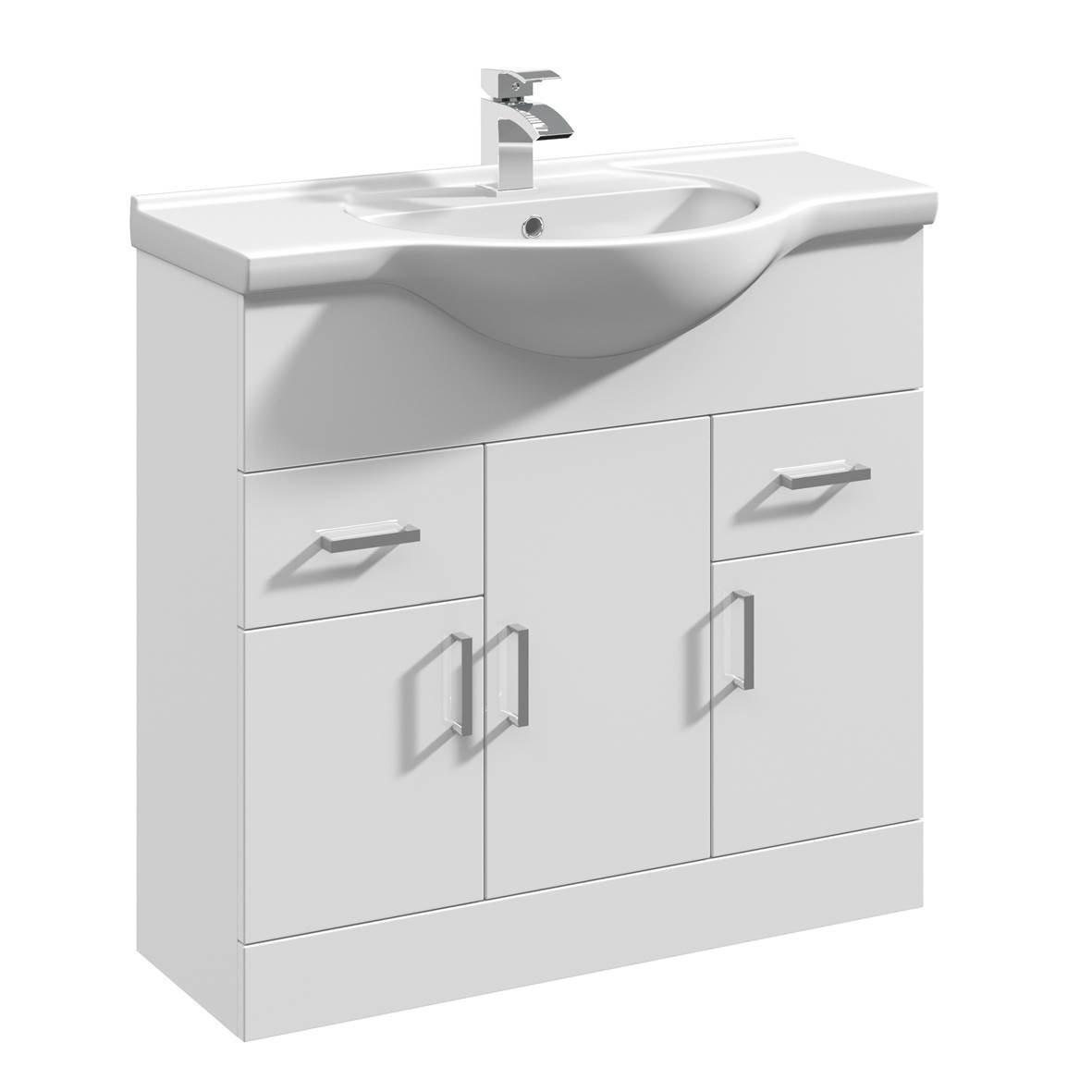 gloss gloss modular bathroom furniture collection. 1450mm Modular High Gloss White Bathroom Combination Vanity Basin Sink Cabinet, WC Toilet Furniture \u0026 BTW Pan: Amazon.co.uk: Kitchen Home Collection
