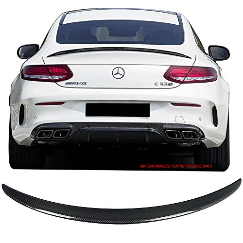 Trunk Spoiler Fits 2015-2017 Mercedes-Benz C Class W205 2Dr Coupe C205 | AMG Style Carbon Fiber (CF) Rear Wing by IKON MOTORSPORTS | (Mercedes Benz C Class Coupe)