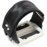 Fyxation Gates Pedal Strap Kit with White Pedal and Black Straps