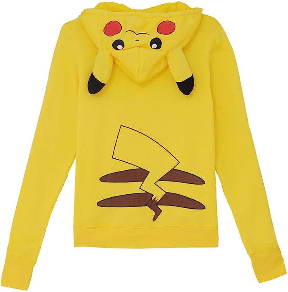 Charmley Uomo//Donna//Adolescenti Carino Pokemon Felpa Cartoon Stampa Pullover Felpe con cappuccio