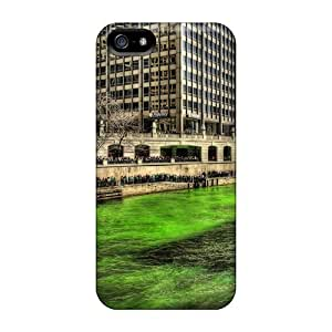 Durable Case For The Iphone 5/5s- Eco-friendly Retail Packaging(chicago River On St Patricks Day Hdr)