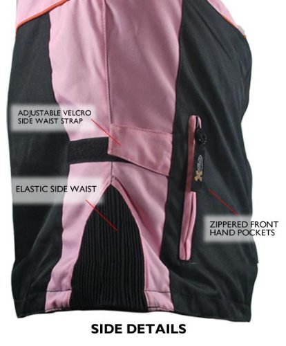 Xelement CF462 Womens Black/Pink Tri-Tex Fabric Motorcycle Jacket with Advanced - Medium by Xelement (Image #3)