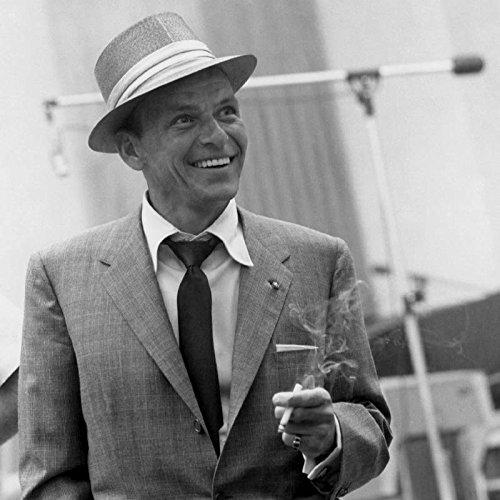 XXXL Poster Size Photo 20x30 Frank Sinatra Recording At Capitol Records Recording