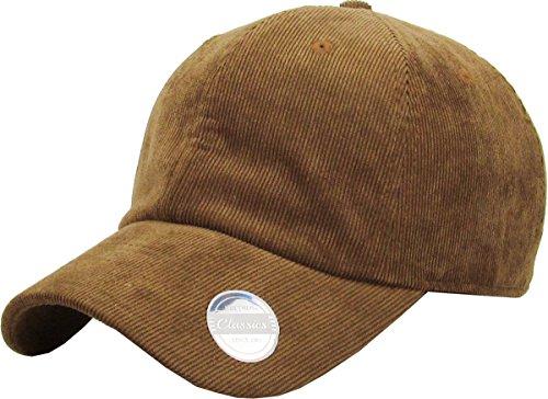 KBE-COR-Classic LBR 6 Panel Corduroy Dad Hat Baseball Classic Adjustable Soft Plain Cap ()