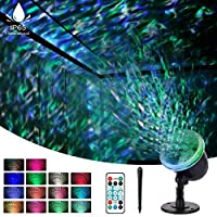 Night Light Projector for Kids, acetek Ocean Wave Projector Light with 3D Water Ripple Effect, Projector Lamp Undersea for Kids Living Room Bedroom Party Disco with Remote Control