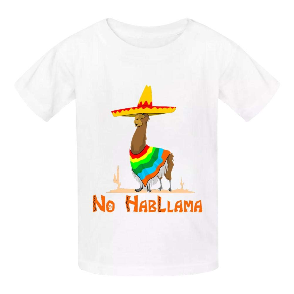 No HabLlama Llama Childrens Comfortable and Lovely T Shirt Suitable for Both Boys and Girls