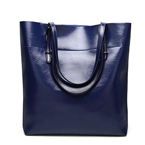Sxelodie Tote Bags Crossbody Messenger Bags Women Handbags Ladies Pu Leather (l: 30cm * W: 12.5cm * D: 35cm), Blue Blue