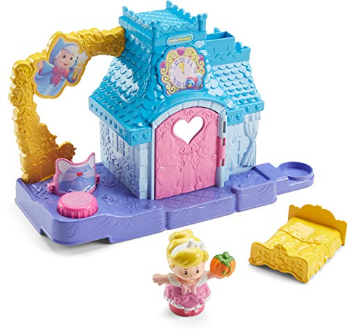 Fisher-Price Little People Disney Princess, Cinderella's Helpful Friends Home Playset