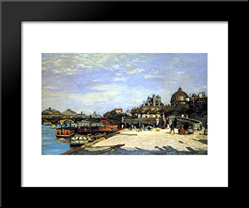 The Pont des Arts and the Institut de France 20x24 Framed Art Print by Renoir.
