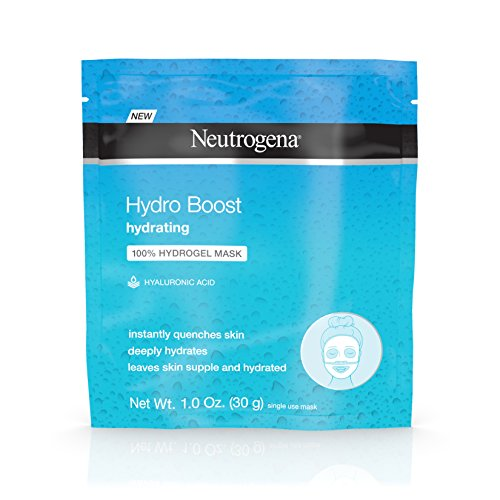 - Neutrogena Hydro Boost Moisturizing & Hydrating 100% Hydrogel Face Mask Sheet with Hyaluronic Acid, 1 oz,pack of 12