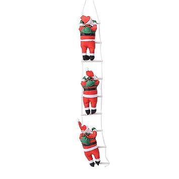 BHYDRY 2019 Navidad Colgante Escalera Navidad Papá Noel Árbol Decoración de año (1PC,A): Amazon.es: Hogar