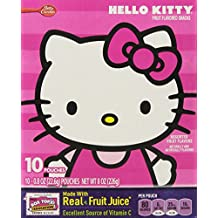 Hello Kitty Assorted Fruit Flavor Snacks, 10-Pouch Box (2 Boxes)