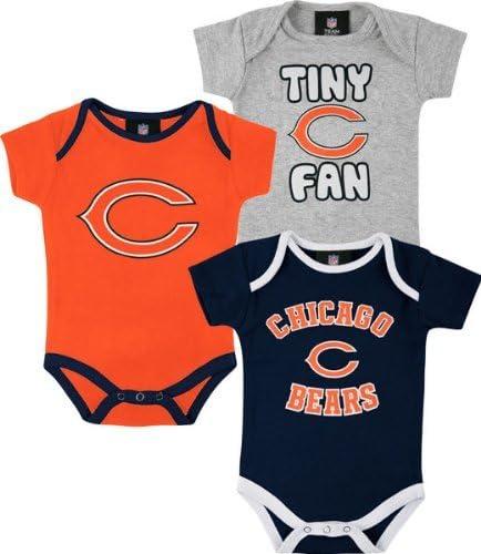 Outerstuff Chicago Bears Baby Tiny Fan 3-pk Bodysuit Set