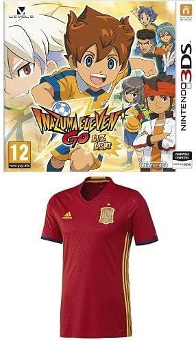 Inazuma Eleven Go: Luz + 1ª Equipación Selección Española de Fútbol Euro 2016 - Camiseta oficial adidas, talla M Authentic: Amazon.es: Videojuegos