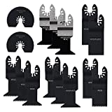 LICHAMP 15 Metal Wood Plastic Oscillating Multitool Quick Release Saw Blades Fit Black Decker Bosch Craftsman Dremel Dewalt Fein Makita Milwaukee Multimaster Porter Cable Ridgid Rockwell Ryobi