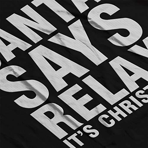 Sweat shirt Femme Son Noir Coto7 De Dit Santa Détendre fgzxqvOw