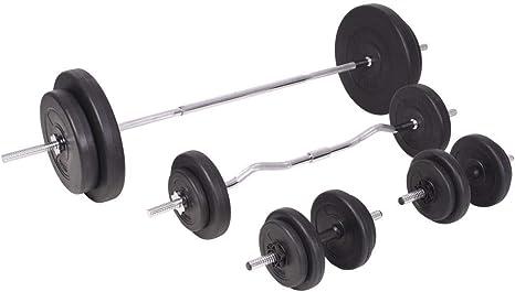 Xingshuoonline - Juego de Mancuernas y Mancuernas para Gimnasio y Fitness, 90 kg: Amazon.es: Deportes y aire libre