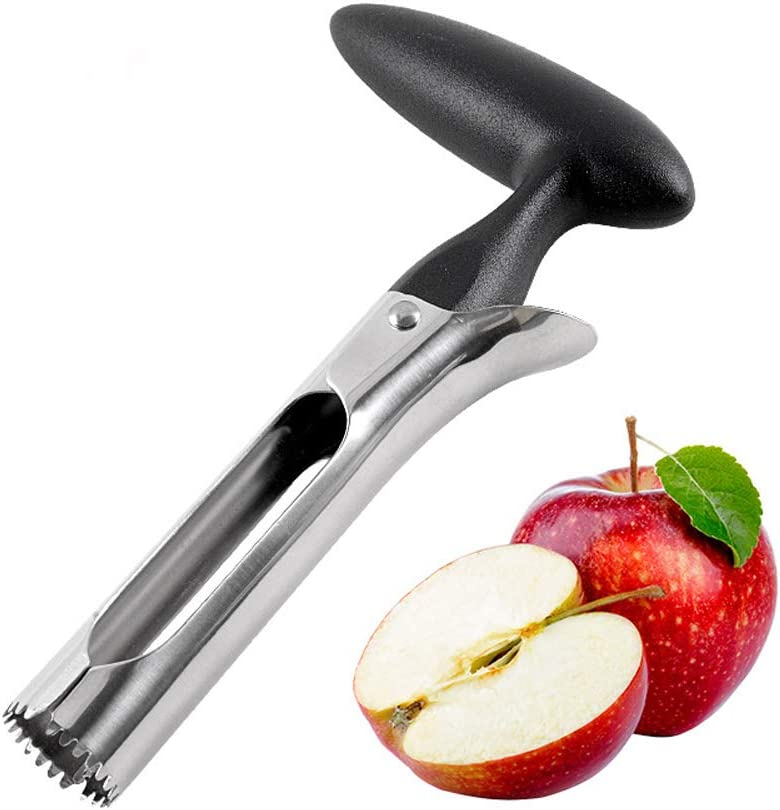 Apple Corer, Premium Food Grade Stainless Steel Apple Core Remover with Sharp Serrated Blade,Perfect Home & Kitchen Tool for Pear & Other Fruits Core Remover