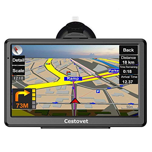GPS Navigation for Car, 7 Inch HD Touch Screen GPS Navigation System Voice Broadcast Navigation, Free North America Map Updata Contains USA, Canada, Mexico map (In Dash Gps Navigation Systems For Cars)