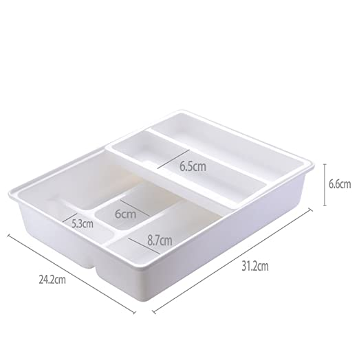 Amazon.com: Romote Kitchen Drawer Dividers Cutlery Tray, Sliding 2-Tier Plastic Drawer Organizer for Utensils: Kitchen & Dining