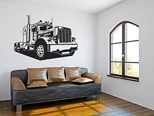 Wall Decal Vinyl Sticker Decals Art Decor Design Bulldozer Excavator Tractor Truck Car Boys Kids Children Mans Living Room Nursery (R1249) (Semi Truck Wall Art)
