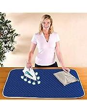 Wenko ångstrykbart täcke - strykbrädunderlag, värmebeständig, bomull, 65 x 100 cm, blå