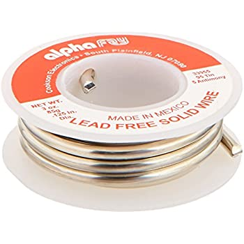 Alpha Fry AM33955 Cookson Elect 95/5 Lead-Free Solid Wire Solder