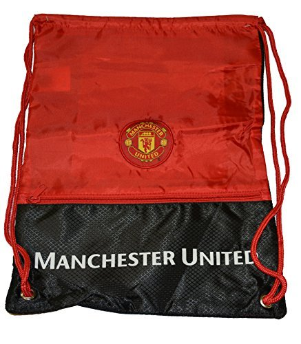 Backpack Embroidered Cinch (Manchester United Gym Sack Bag Drawstring Backpack Cinch Bag Authentic Official NEW 2015)