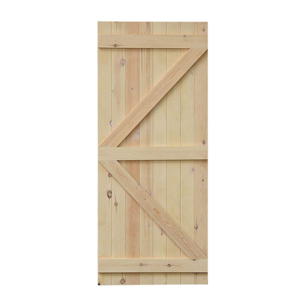 Panana High Quality Pine Ledged and Braced Traditional Wooden Cottage Door (198 x 76cm) Bochen