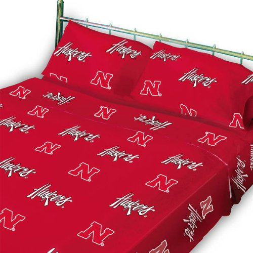 - NCAA Nebraska Huskers Collegiate Red Twin X-Long Sheet Set