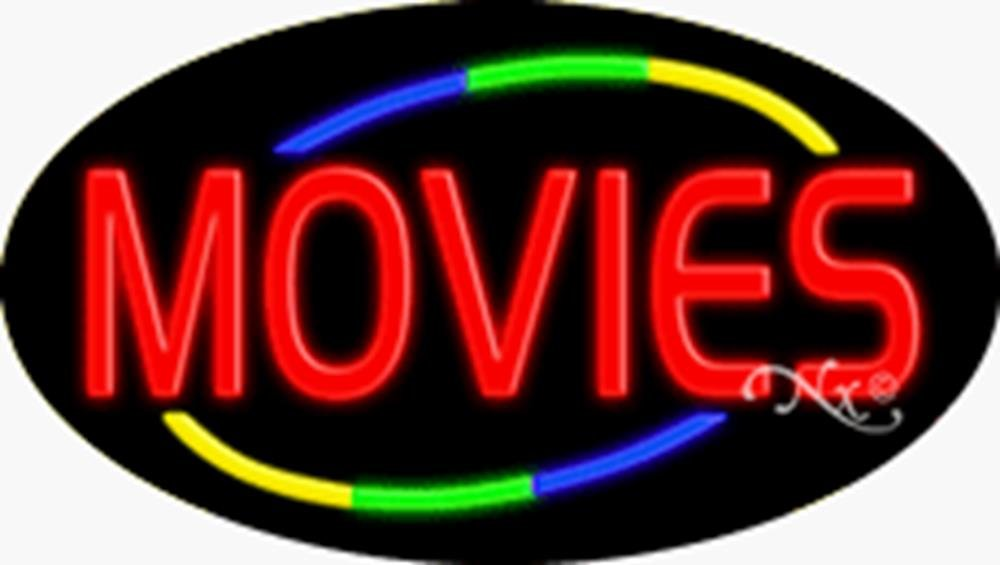 17x30x3 inches Movies Flashing ON/OFF NEON Advertising Window Sign