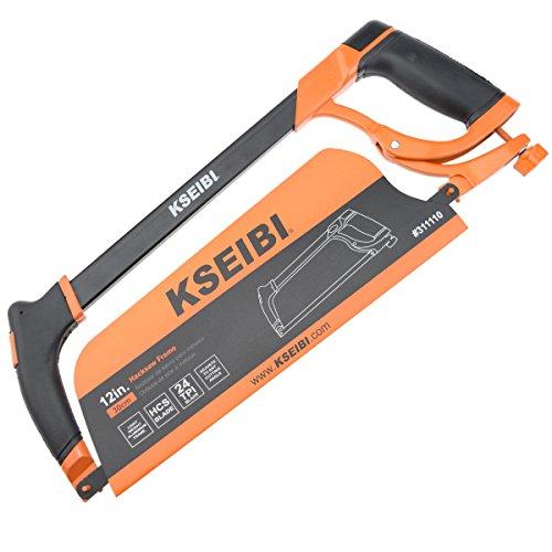 Professional Heavy Duty Hacksaw - KSEIBI High-Tension Rubber Grip Hacksaw 12-Inch (PRO)