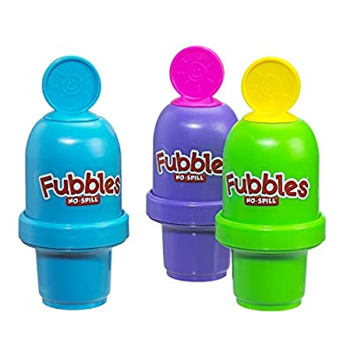 Little Kids Fubbles No-Spill Bubble Tumbler Minis Party Favor 12 pack, Includes 2oz bubble solution and a wand per bottle (assorted colors): Toys & Games
